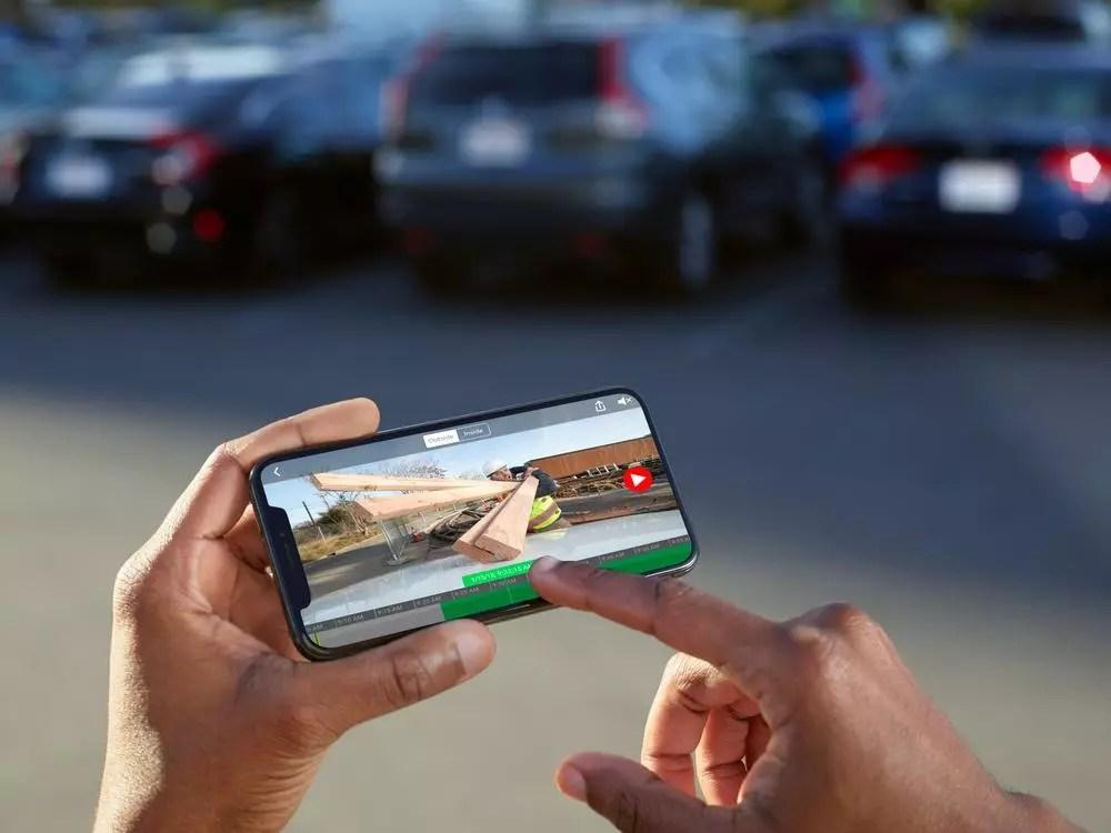 Interfaz de la dashcam  Owl Car Cam