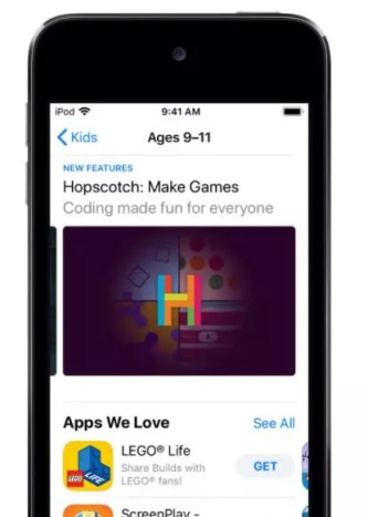 App Store con Apple Families