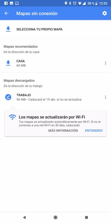 Mapas sin onexion Google Maps