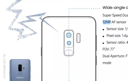 Trasera del Galaxy Note 9