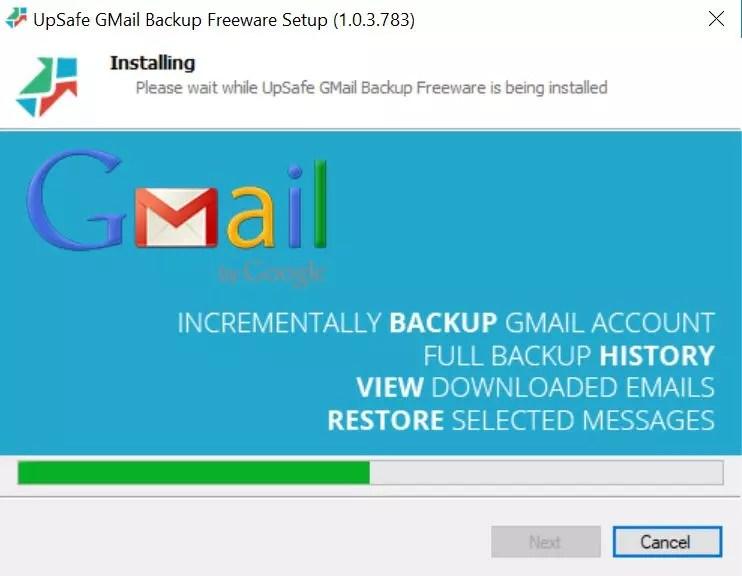 Instalación de UpSafe para Windows 10 y Gmail