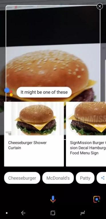 Google Lens en Galaxy S8