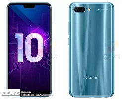 Honor 10 de color zaul
