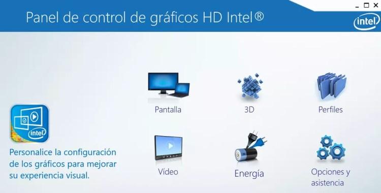 Opciones de controlador gráfico de Intel
