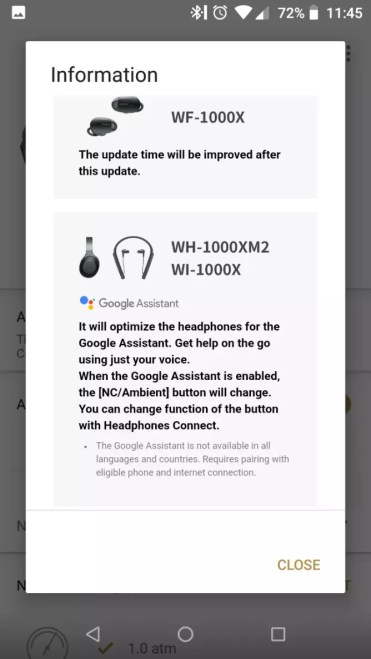 Auriculares Sony actualización Google Assistant