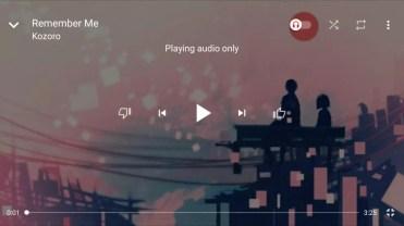 Interfaz a pantalla completa del futuro servicio YouTube Music