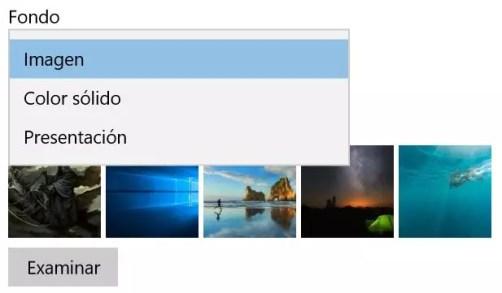 Presentación fondo en windows 10