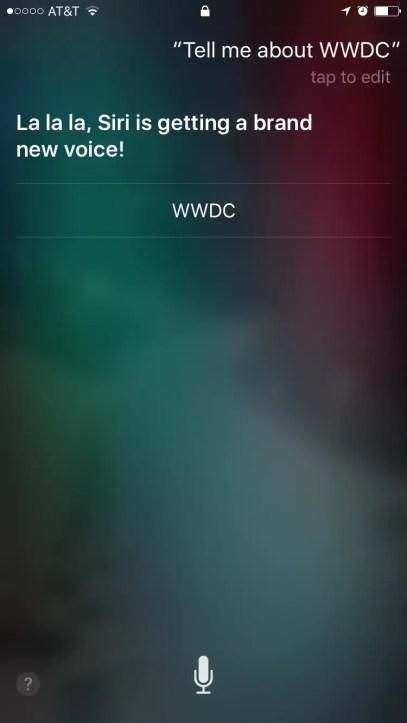 Nueva voz de Siri
