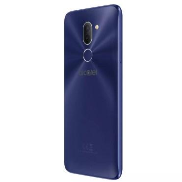 Teléfono Alcatel 3X de color azul