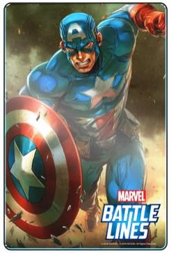 carta de Capitán América en MARVEL Battle Lines