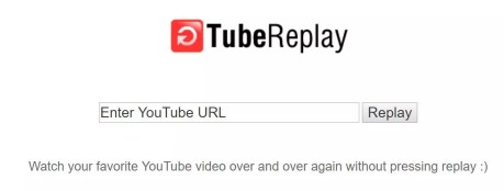 Interfaz de la web Tube Replay