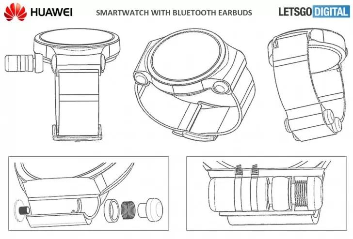 patente smartwatch Huawei con funda auricualres