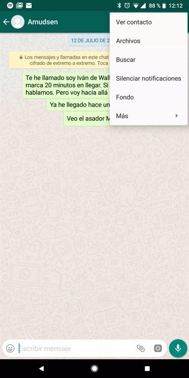 Silenciar contactos en WhatsApp