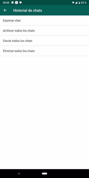 Exportar chat de WhatsApp