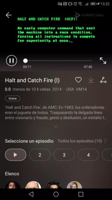 Reproducción de contenido en Huawei Vídeo