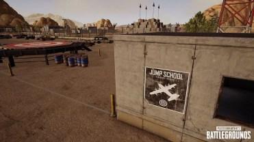 Zona de entrenamiento de salto en paracaídas en PUBG