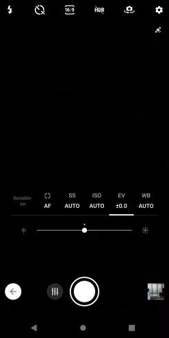 Modo Pro de la cámara del Sony Xperia XZ3