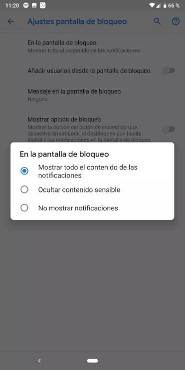Gestión de las notificaciones en la pantalla de bloqueo