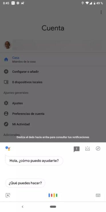 Asistente en Google Home