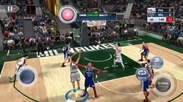 Tiro en el juego NBA 2K19