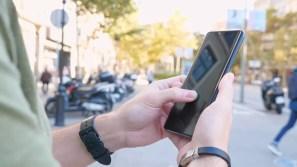 Lector de huellas Huawei Mate 20 Pro en uso