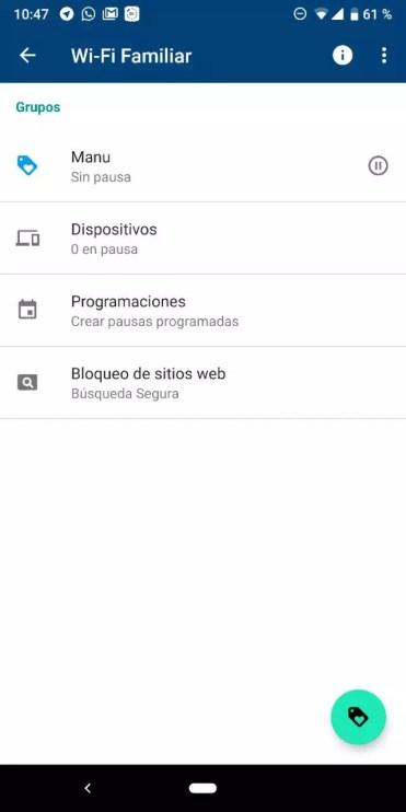 Bloqueo web a una etiqueta de Google WiFi