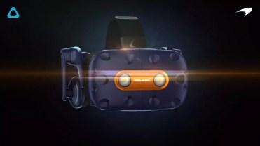 Diseño de las gafas HTC Vive Pro McLaren Edition