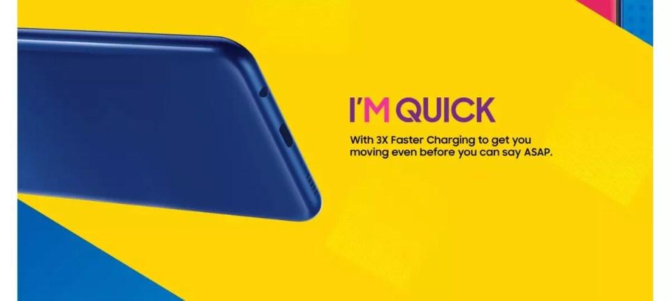 Puerto USB tip-C del Samsung Galaxy M