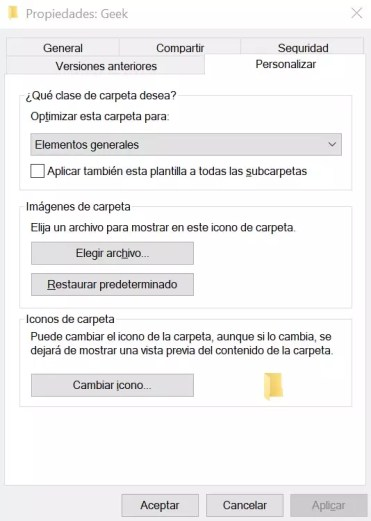 Elegir imagen carpeta Windows 10