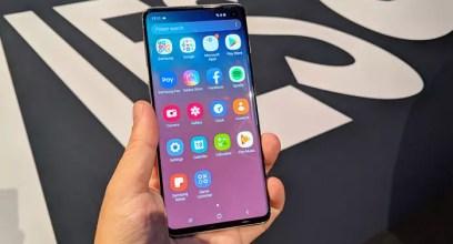 Pantalla del teléfono Samsung Galaxy S10