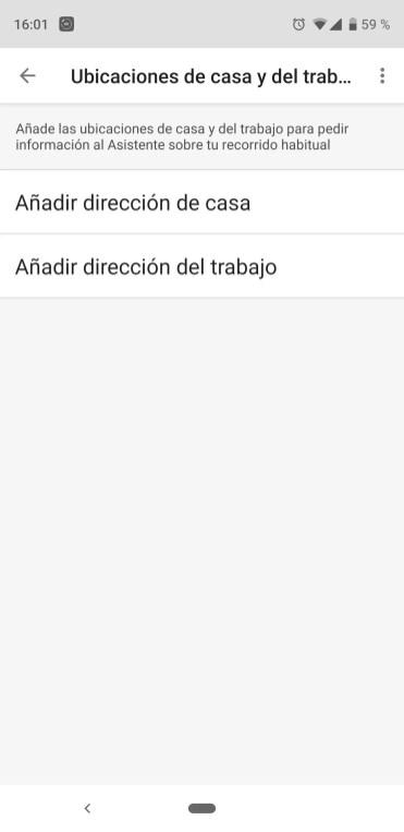 Direcciones personales asistente de Google