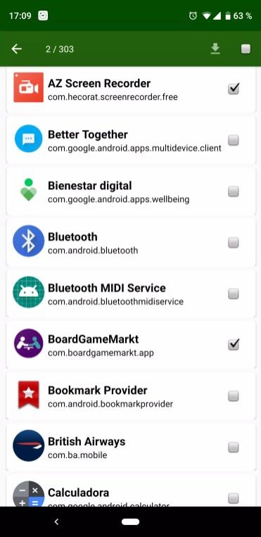 Descarga de aplicaciones en APK Extractor para Android
