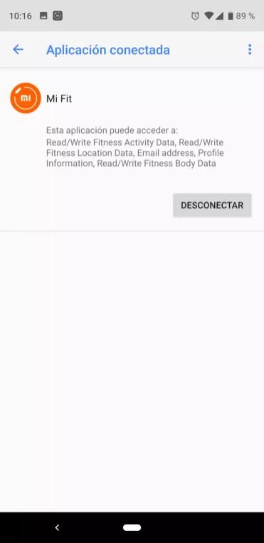 Eliminar sincronización Xiaomi Mi Band 3