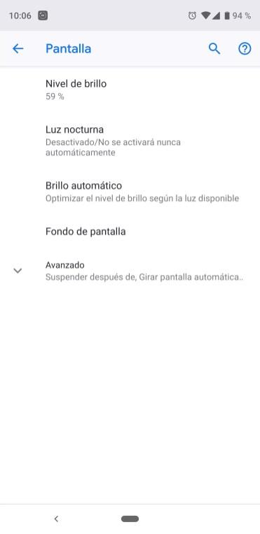 Pantalla Android parpadeo de la pantalla