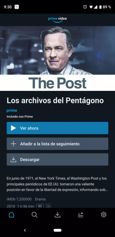 Descargar película en Amazon Prime Video