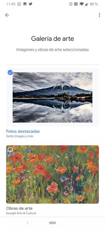 Galería arte ambiente en Google Chromecast