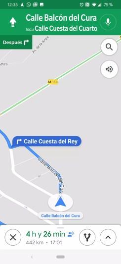 Compartir avances ruta en Google Maps