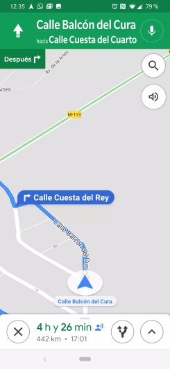 Compartir avances ruta en Google Maps