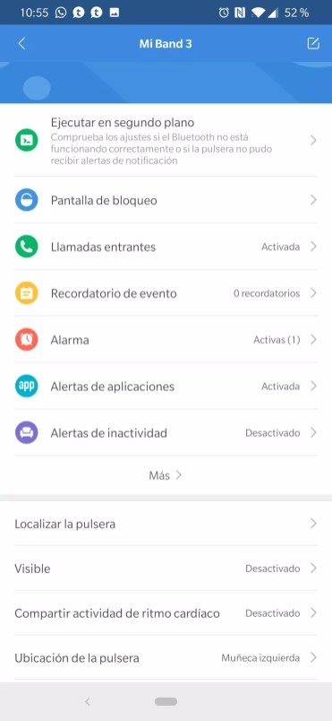 Localizar la pulsera Xiaomi Mi Band 3