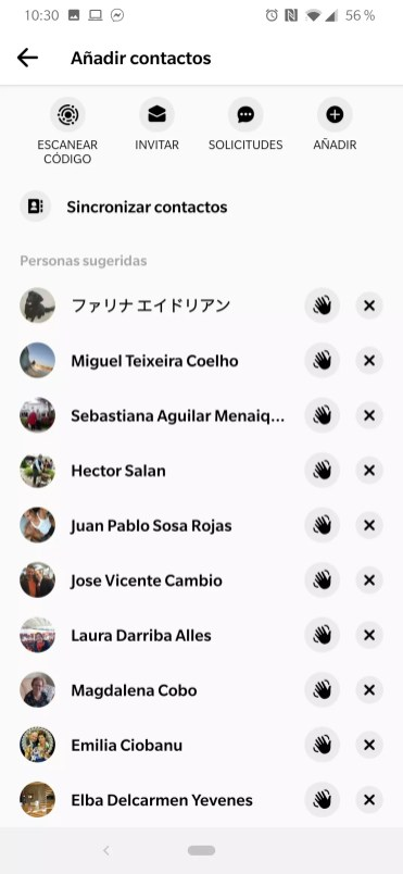 Sincronizar contactos Facebook Messenger
