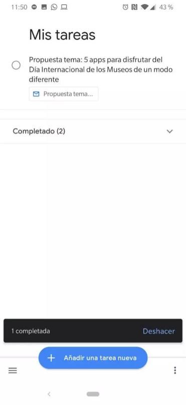 Tarea enviada desde Gmail