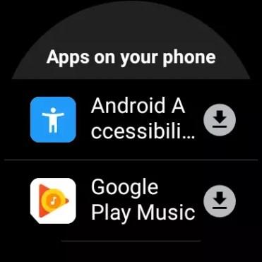Opciones de descarga en Play Store para Wear OS