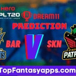 BAR vs SKN Dream11 Team Prediction For 11th Match CPL 2020, (100% Winning Team)