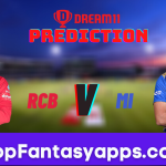 RCB vs MI Dream11 Team Prediction for Today's IPL Match, 100% Winning