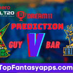 GUY vs BAR Dream11 Team Prediction Today's Match CPL, 100% Winning