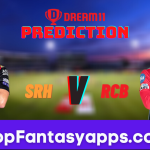 SRH vs RCB Dream11 Team Prediction Todays IPL Match,100% Winning