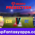 CSK vs DC Dream11 Team Prediction Todays Match IPL, 100% Winning