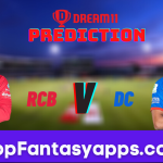 RCB vs DC Dream11 Team Prediction for Today's IPL Match