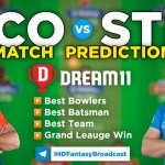 SCO vs STR Dream11 Team Prediction Today's BBL Match,100% Winning