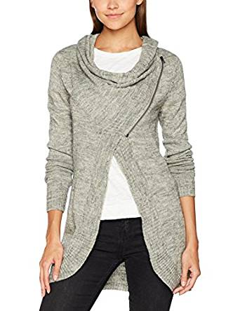 ONLY Damen Regular Fit Strickjacke Onlnew Hayley L/s Zip Knt Noos
